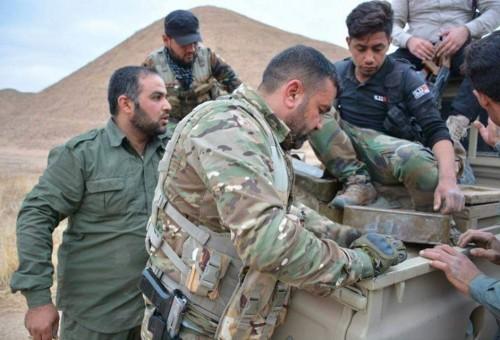 بالصور: القوات المشتركة تعثر على أسلحة وأعتدة ومضافات في محيط الحويجة