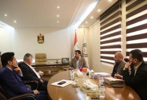 عبطان ومسعود يبحثان تحضيرات العراق لاستضافة المباريات الدولية