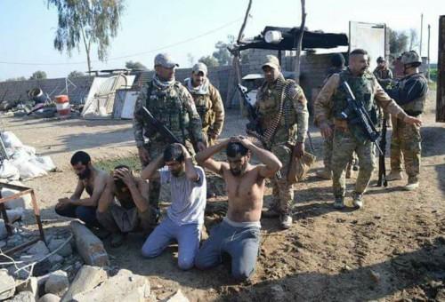بالصور: أعداد كبيرة من داعش في قبضة قوات الرد السريع جنوبي الموصل