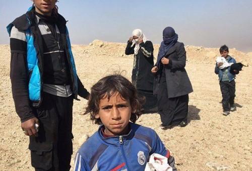نيويورك تايمز ترصد استقبال الجيش لنازحين.. وفريقها الطبي ينقذ حياة حامل بصحراء الموصل
