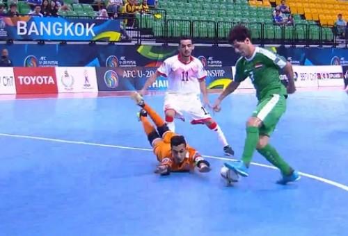 شباب العراق يسحق البحرين في كأس آسيا لكرة القدم للصالات